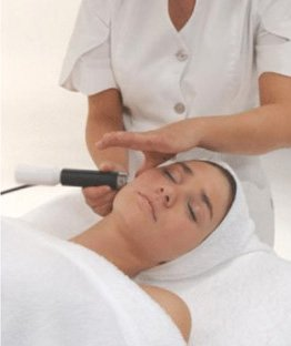 woman having Microdermabrasion facial treatment for skin care